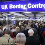 Four-hour queues at passport control on UK flights
