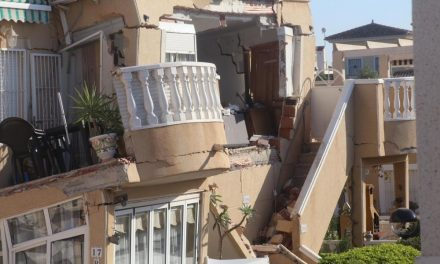 House collapse in Orihuela Costa