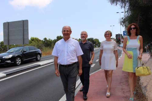 Valencian officials shown the traffic problems of  Torrevieja