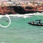 Two children saved from the sea