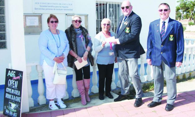 RNA donates to Age Concern
