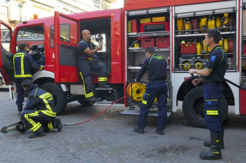 FIRE DESTROYS LA SIESTA VILLA