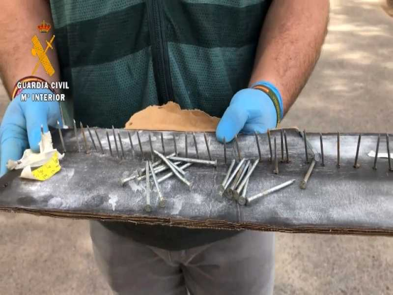 Couple arrested for setting nail 'traps' for vehicles